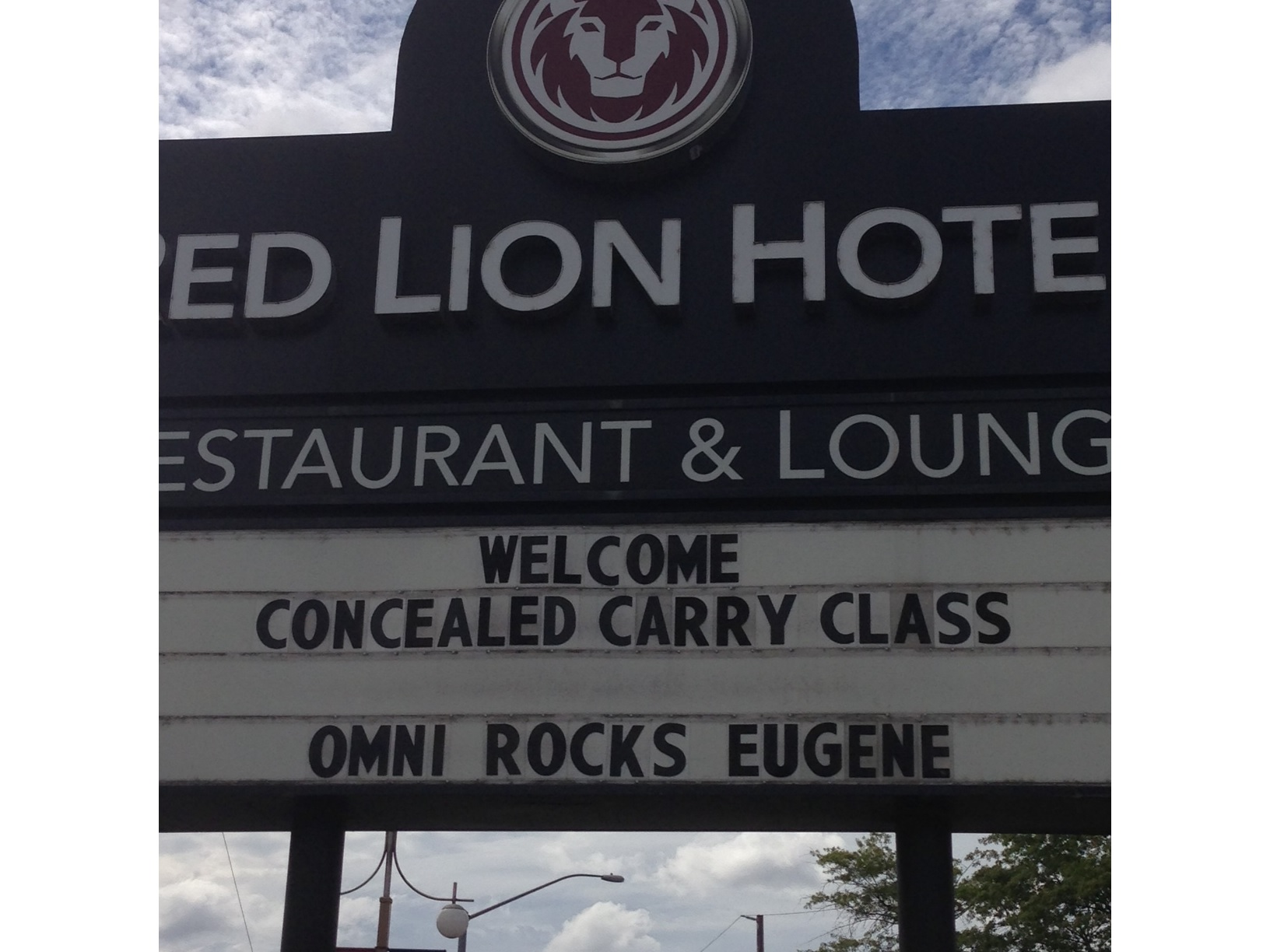 Do we really want the stoned out people of Eugene, Or carrying?
