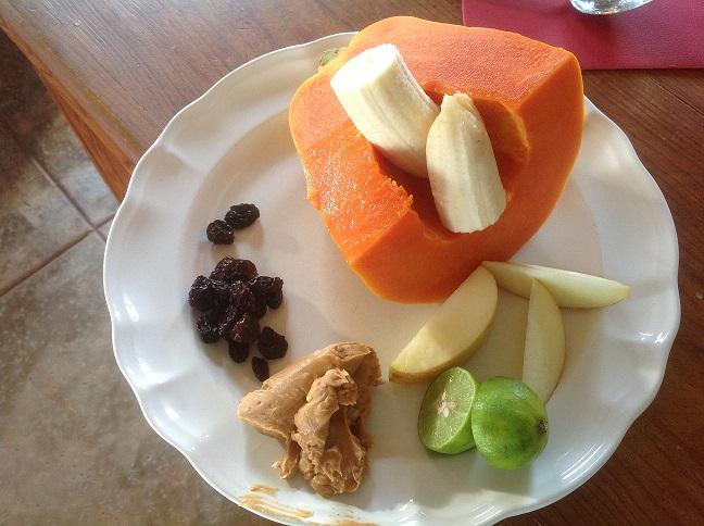 Patty's healthy breakfast