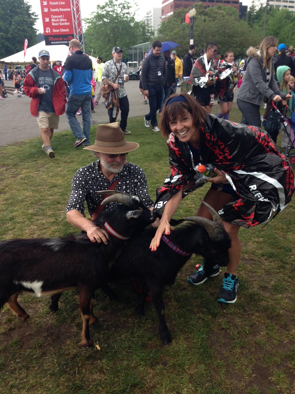Portland goat scene