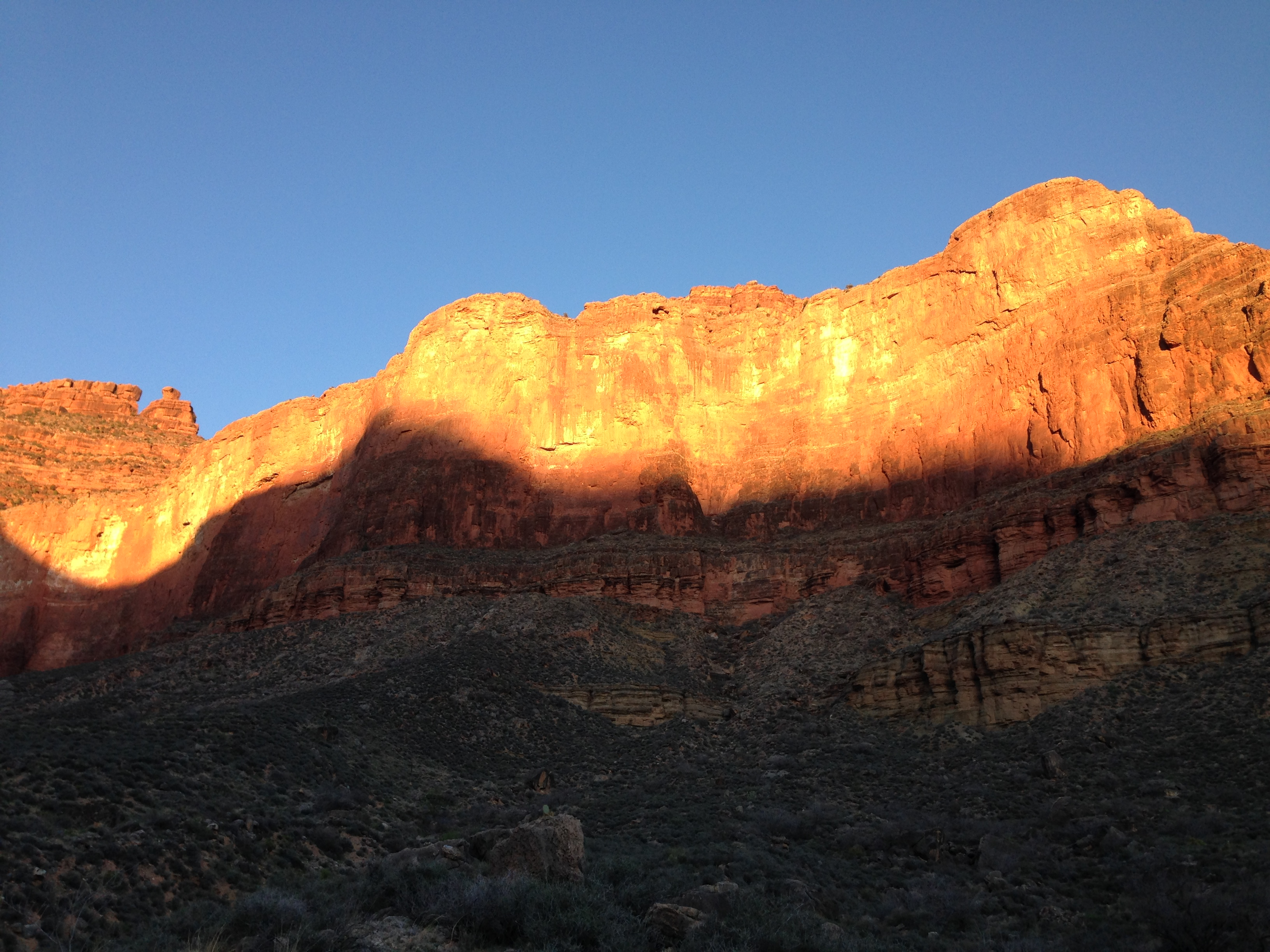 Sunrise in the canyon
